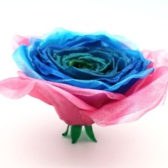 Download free 3D printer templates Realistic Rose, DasMia
