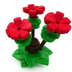 Free 3D printer files New big flower parts (LEGO style) fully playable, DasMia