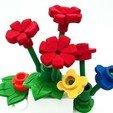 Plan imprimante 3D gatuit Nouvelles pièces de grandes fleurs (style LEGO) entièrement jouables., DasMia