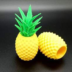 Download free 3D printing designs Pineapple Container, DasMia