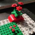 Free 3D print files Big Flower LEGO style - playable version, DasMia