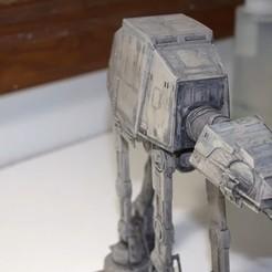 Télécharger fichier STL Star wars AT-AT  • Objet imprimable en 3D, 3dprintiing