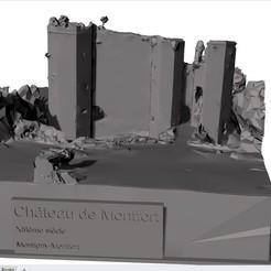 vue texte.jpg Télécharger fichier STL Château Montfort • Plan pour impression 3D, 3dprintiing
