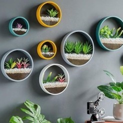 jardinière murale ronde.jpg Télécharger fichier STL Jardinière murale ronde • Modèle pour imprimante 3D, 3dprintiing