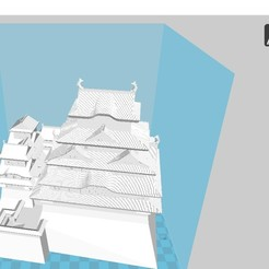 Download free 3D printer model Himeji Castle, 3dprintiing