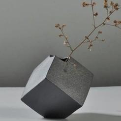 cube scindé.jpg Télécharger fichier STL Vase Cube scindé • Plan à imprimer en 3D, 3dprintiing