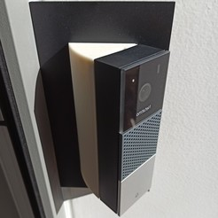 1602334815369right.jpg Download STL file NETATMO DOORBELL 50° ANGLE ADAPTER (RIGHT SIDE) • 3D printing model, bruno78