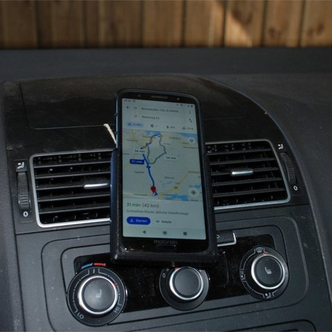 Download free 3D print files simple smartphone holder for the car (customizable), dede67