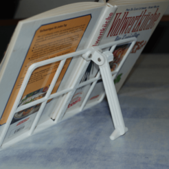 Free 3D print files Book Stand (also suitable for large and heavy books), dede67