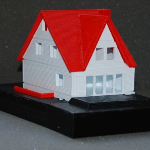 Free 3D print files my house (in 1:100), dede67