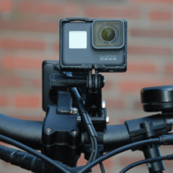 Capture d'écran 2018-05-10 à 10.44.52.png Download free STL file GoPro Handlebar Mount (customizable) • 3D print template, dede67