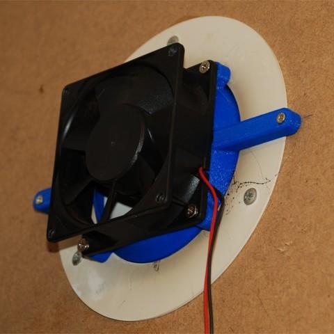 Télécharger plan imprimante 3D gatuit Adaptateur de ventilateur 80mm -> 95mm, dede67