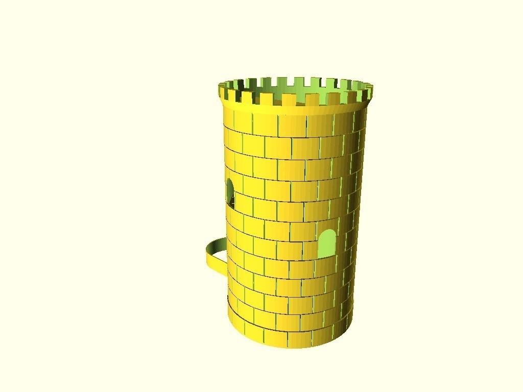 66b8cc2f544e0fbfeacb96d999ca4cbf_display_large.jpg Download free STL file Dice Tower • Template to 3D print, dede67