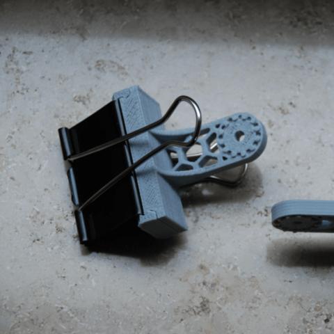 Free 3D printer designs Foldback Clip Adapter, dede67