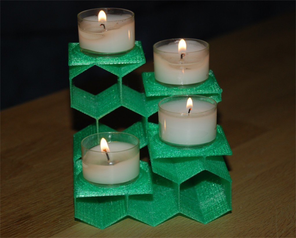 7f09737783e0d48f655ad1b4e0524954_display_large.jpg Download free STL file Tea Light Stairway from Hex-Tubes • 3D print object, dede67