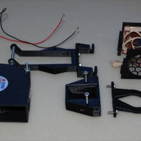Télécharger STL gratuit Anycubic I3 Mega Hotend Cover V3 (ventilateur radial 7530), dede67