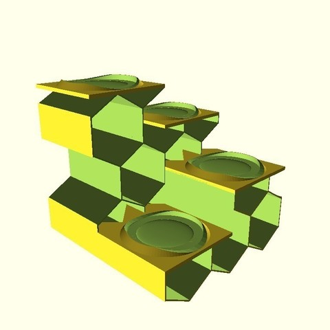 5961f4a9df053fd724bb47aded64f2e1_display_large.jpg Download free STL file Tea Light Stairway from Hex-Tubes • 3D print object, dede67