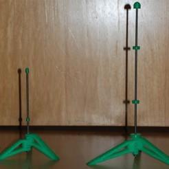 Free Parametric Flute Stand 3D printer file, dede67