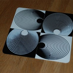 Free 3D printer designs Op-Art Beverage Coaster Puzzle, dede67