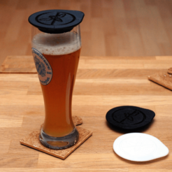 Free 3D printer designs Cover for White/Wheat Beer Glasses, dede67