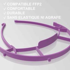 Descargar modelos 3D gratis covid19 Visor protector compatible con FFP2, F_VASSEUR