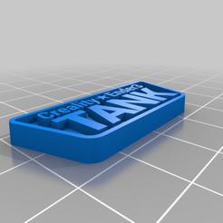 CREALITY_ENDER3_TANK_BADGE.png Download free STL file Ender3 Tank Badge • Template to 3D print, Grafit