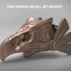 2.jpg Download free STL file The Horus Skull • 3D print design, Grafit