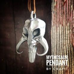 IMG_8225.JPG Download STL file Mythosaur Pendant • 3D printable object, Grafit