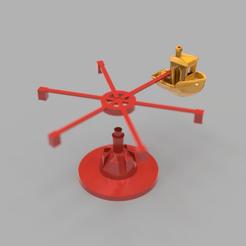 benchie_carousel.png Télécharger fichier STL gratuit Un autre carrousel de Benchy • Design imprimable en 3D, Grafit