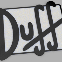 Captura.PNG Descargar archivo STL Duff Beer logo - Simpsons wall decor • Plan imprimible en 3D, Ushuaia3D
