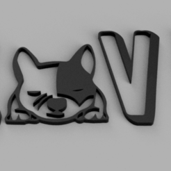 Love Dog v2.png Download STL file LOVE DOG - WALL DECOR • 3D print template, Ushuaia3D