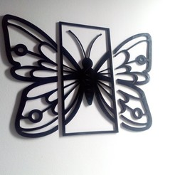 IMG_20201007_164242407[1].jpg Download STL file Butterfly for the wall - Decor • Object to 3D print, Ushuaia3D