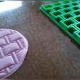 4.PNG Download STL file Texturizers for Porcelain / Cakes / Cookies • 3D printer template, Ushuaia3D