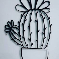 Captura.JPG Download STL file Cactus for the wall - Decor • Design to 3D print, Ushuaia3D