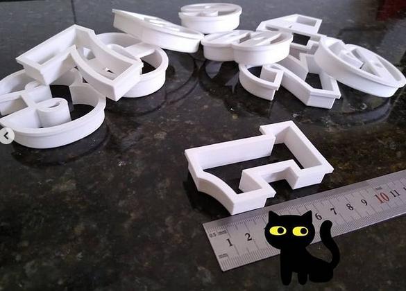 Captura2.PNG Télécharger fichier STL Numéros des moules à biscuits • Plan imprimable en 3D, Ushuaia3D