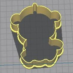 1.JPG Download STL file Cookie cutter little monkey • Template to 3D print, Ushuaia3D