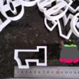 Captura3.PNG Télécharger fichier STL Numéros des moules à biscuits • Plan imprimable en 3D, Ushuaia3D