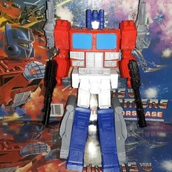 Download free 3D printing templates PowerMaster Optimus Prime based on Ultra Magnus Upgrade kit Designed by Tim Yeung, byntp137