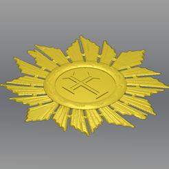 Download free 3D printing templates Medal - Order of Christ, novaeshenrique