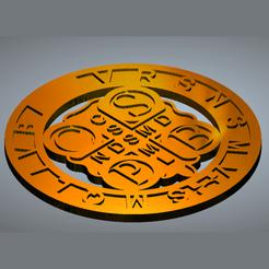 medal.png Télécharger fichier STL Médaille Saint Benoît • Objet pour impression 3D, novaeshenrique