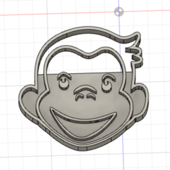 Download 3D printer model Curious George Cookie Cutter, Tecne3dChile