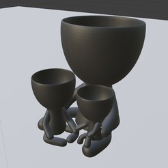 tita luchona.jpeg Download STL file planter with two children • 3D print design, brianbhs