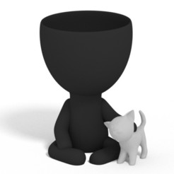 SAVE_20200829_115310.jpg Download STL file Plantera with her kitten • 3D printing object, brianbhs