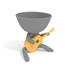 guitarra criolla 2.PNG Download STL file planteras band - frustrated guitarist • 3D printable design, brianbhs