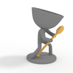 cantante.PNG Download STL file band of planteras - singer • Design to 3D print, brianbhs