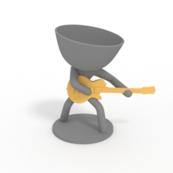 guitarra electrica.PNG Download STL file band of planteras - guitarist • Design to 3D print, brianbhs