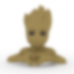 Download 3D printer templates hands groot heart, brianbhs