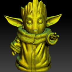 Descargar archivo 3D gratis Yodagroot - baby yoda baby groot, Marolce19