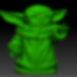 yodapug.stl Télécharger fichier OBJ gratuit Yodapug bébé yoda • Modèle imprimable en 3D, Marolce19