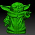 yodapug.png Télécharger fichier OBJ gratuit Yodapug bébé yoda • Modèle imprimable en 3D, Marolce19